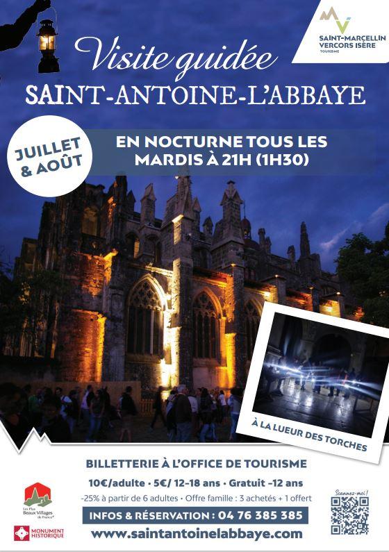 Visites guidées nocturnes Saint-Antoine-L'Abbaye